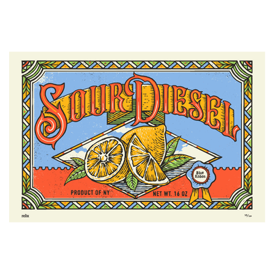 Limited Edition Sour Diesel Poster