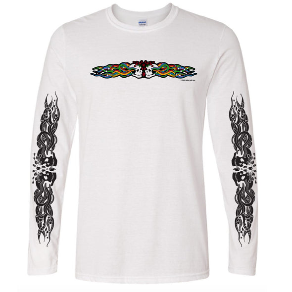 Twin Skulls Throwback Long Sleeve T-Shirt