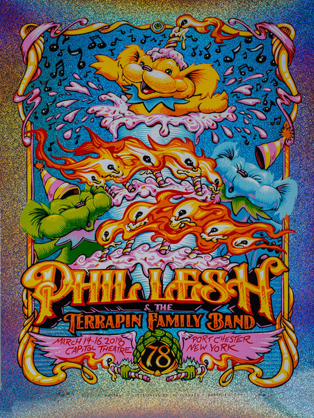 Limited Edition Poster: Phil Lesh's 78th Relix A/P by AJ Masthay