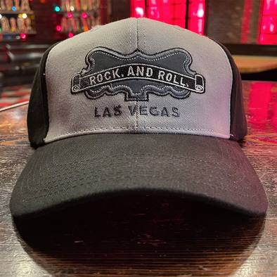 "Brooklyn Bowl Las Vegas ""Rock. And Roll."" Fitted Hat"