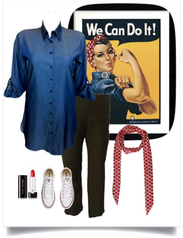 Rosie the Riveter Halloween Costume for Plus Size Women