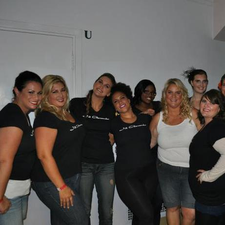 Jill Alexander and plus size models at Fashion Art Santa Cruz 20010