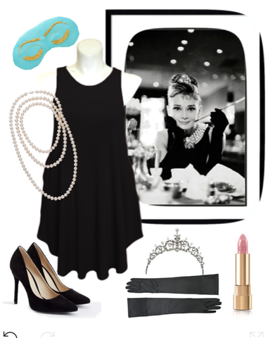 Audrey Hepburn Breakfast at Tiffany's Halloween Costume for Plus Size Women