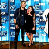 Heidi and James Durbin on the red carpet at the American Idol Finale
