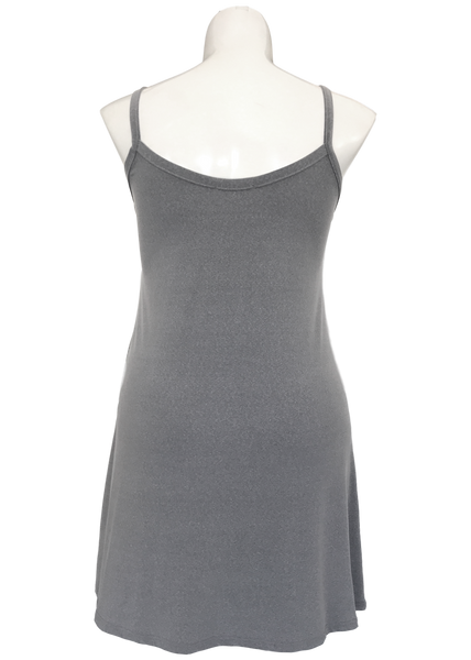 Heather gray a-line essential cami tunic for missy and plus size women