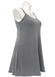 Heather gray flared essential cami tunic for missy and plus size women