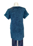 Mineral Washed Cotton Hi-Lo Tunic Teal
