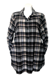 Flannel Pocket Shirt in Taupe Ivory and Black
