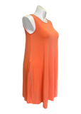 Sleeveless Swing Dress with Pockets in Coral