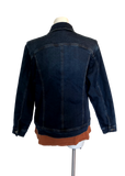 Stretch Denim Jacket with Paisley Lining