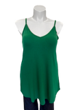 Reversible Spaghetti Strap Swing Top Green