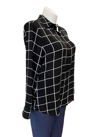 Checkmate Blouse in Black and White