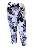 Stretch Comfort Capri in Navy and Gray Floral