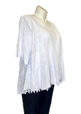 Cotton Lattice Stitch Top in White