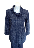 It Has Pockets! Cowl Tunic in Navy