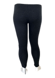 Cotton Legging in Charcoal Gray