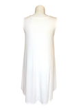 Sleeveless Swing Dress with Pockets Ivory