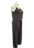 Pocketed Jumpsuit with Bloused Waist in Charcoal