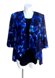 Sheer Chiffon Kimono Jacket in royal and purple