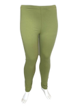 Cotton Legging in Sage Green