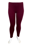 Cotton Legging in Burgandy