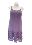 Laced Extender Tunic Slip Dress in Lilac