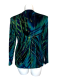Slinky Draped Front Jacket in Marbled Teals