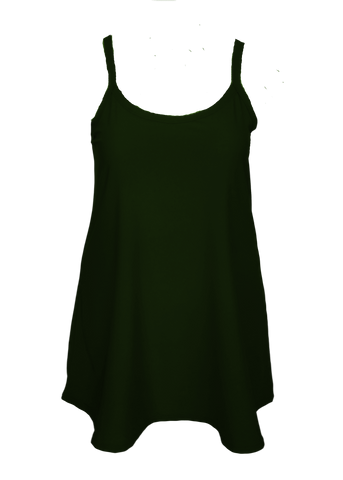 Plus size camisole slip dress for curves
