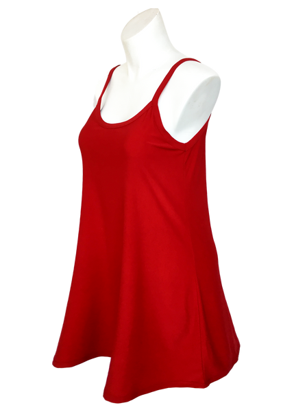 Essential Cami Tunic Slip Dress Red