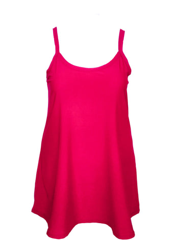 Essential Cami Tunic Slip Dress in Bright Pink