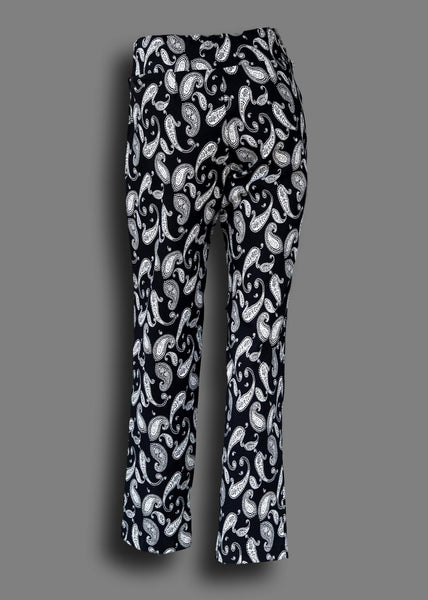 Pull on Flex Stretch Jegging Pant in a Paisley Print