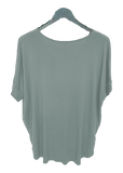 Cross My Heart Top in Seaglass Green