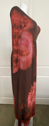 Trippin Out Tie Dye Maxi Dress in Southwest Sunset