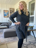 Never Let You Go Sweater Dress in Gray