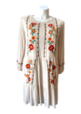 Whisk Me Away Embroidered Dress in Beige