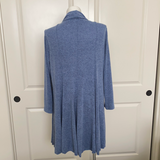 How 'Bout a Spin Flared Cardigan Sweater in Blue