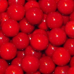 "Mega Fun 1"" (25mm) Opaque Red Glass Marbles All"