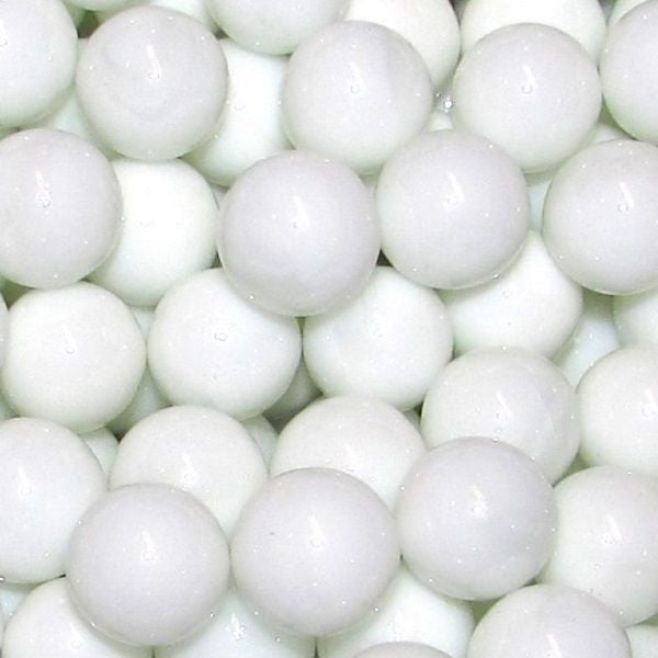 "Mega Fun 1"" (25mm) Opaque White Glass Marbles All"