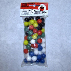 "Marble King Sixty 9/16"" (14mm) Chinese Checkers Glass Marbles"