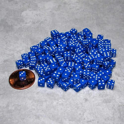 "Koplow Games Two Hundred Opaque 1/5"" (5mm) Blue/White Dice"