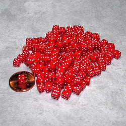 "Koplow Games Two Hundred Opaque 1/5"" (5mm) Red/White Dice"