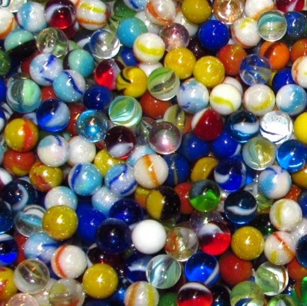 "Mega Fun 1/2"" (12mm) Premium Pee Wee Mix Glass Marbles"