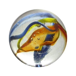 "Mega Fun 1 3/8"" (35mm) Translucent Fiesta Boulder Glass Marbles"
