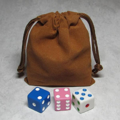 MO-Marbles Small Tan Drawstring Pouch