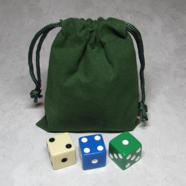 MO-Marbles Small Green Drawstring Pouch