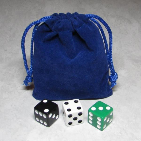 MO-Marbles Small Blue Drawstring Pouch