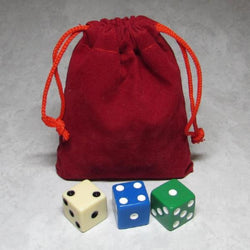 MO-Marbles Small Red Drawstring Pouch