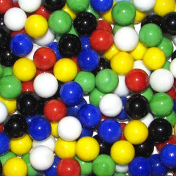 "Mega Fun 9/6"" (14mm) Opaque Mix Glass Marbles All"