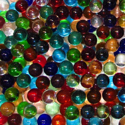 "Marble King 9/16"" (14mm) Transparent Mix Glass Marbles All"