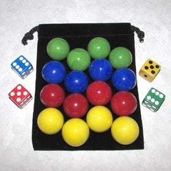 "MO-Marbles Four Player 1"" Opaque Aggravation Wahoo Glass Marbles Set"